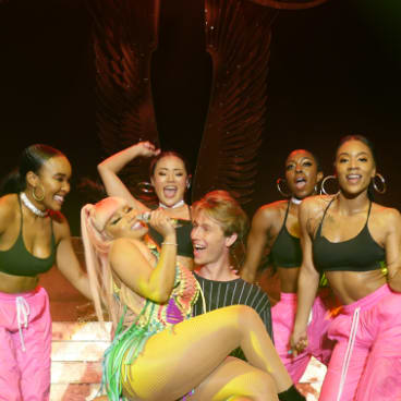 Jayden from the Gold Coast was treated to a dance by Nicki Minaj.