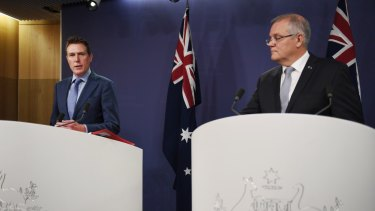 Prime Minister Scott Morrison and Attorney General Christian Porter announce a federal anti corruption body.