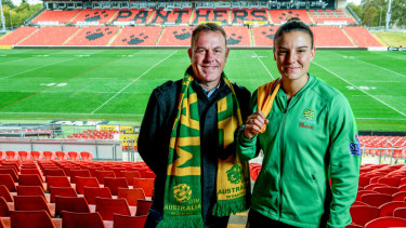 'I hold Staj in the highest regard': Matilda Chloe Logarzo with the former coach.