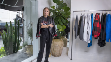 Anine Bing in her recently opened boutique in Sydney's Paddington.