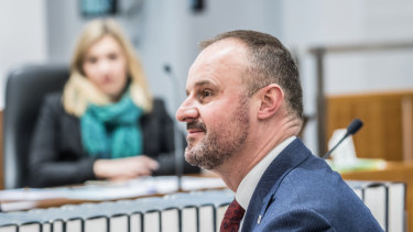 Chief Minister Andrew Barr says he has an open mind about a bill from his backbench to legalise cannabis.