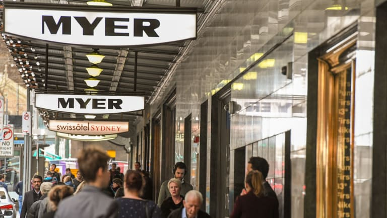 Myer's results were hit by asset write downs and falling sales.