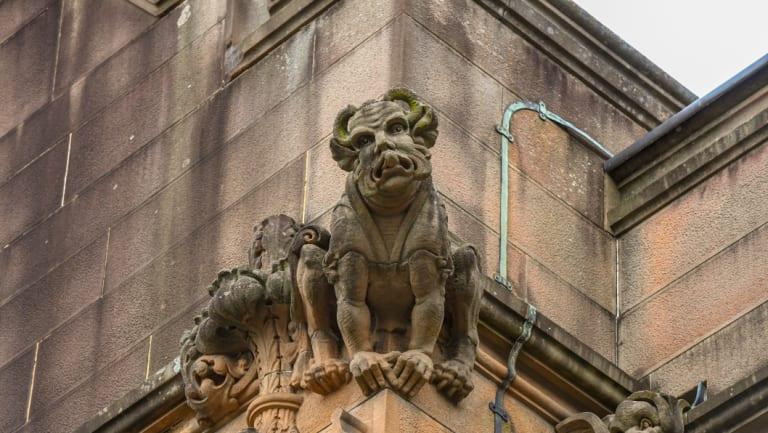 Gargoyles around the main Quad Building at Sydney University.