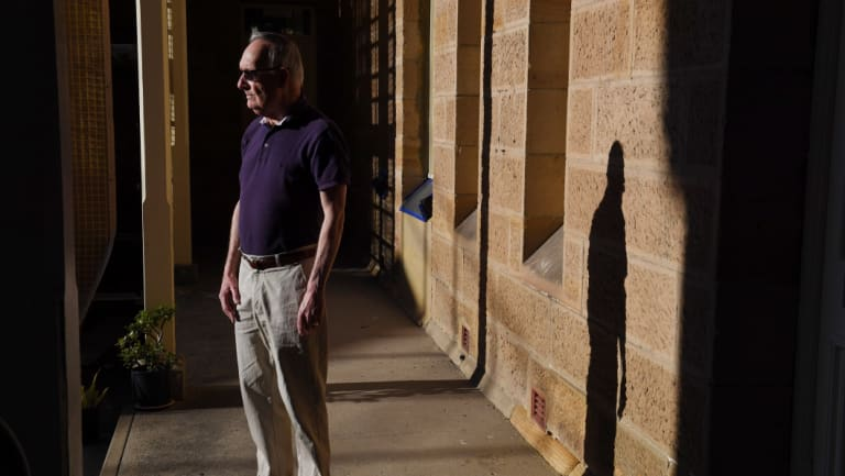 Sydney Living Museums volunteer art sleuth Robert Holden at the Catherine Hayes Hospital.