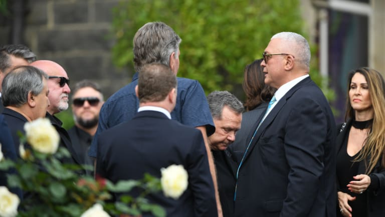The funeral was held at Richmond's St Ignatius' Catholic Church.