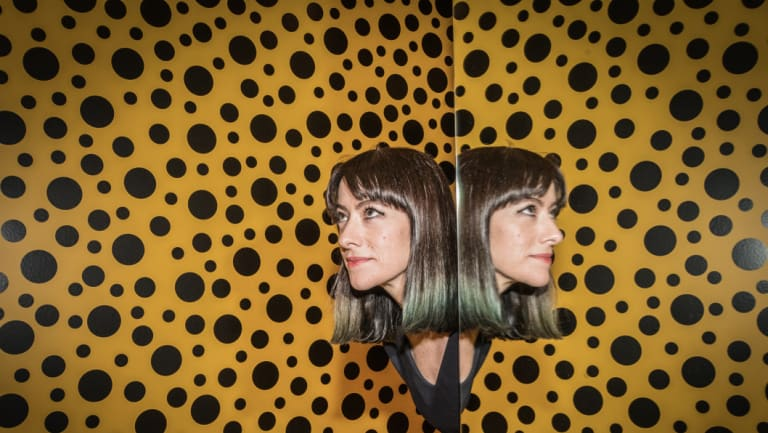 Senior curator of contemporary art at the National Gallery of Australia Jaklyn Babington loses herself in Yayoi Kusama's infinity room.