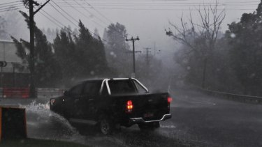 Severe storms battered the Hunter and central coast, as well as parts of the northern Beaches on Friday.