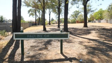 The park near Mr Ingram's house where asbestos was allegedly dumped.