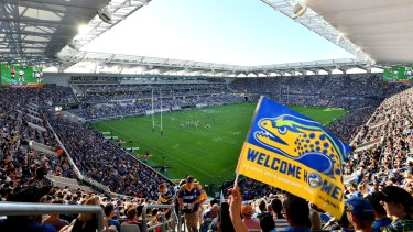 What a view: even the 'worst' seats at the new Parramatta stadium feel closer to the play.