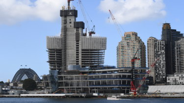 Crown is building a six-star casino complex at Barangaroo in Sydney.