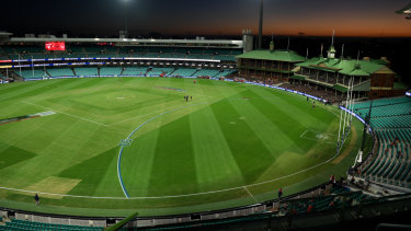The AFL is eager for a drop-in wicket to be introduced to the SCG.