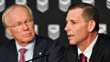 Mark Coyne, right, was appointed to the Australian Rugby League Commission ahead of the 2019 NRL season.