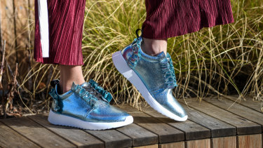 Cruelty free and cool ... Twoobs new sneakers are 100 per cent vegan.