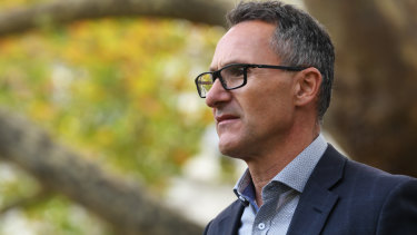 """Greens leader Richard Di Natale said a bold approach was needed to weather the """"economic storm"""" now facing the nation."""