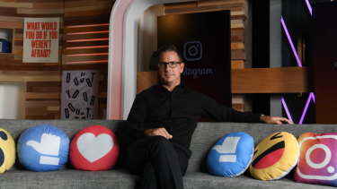 Managing director of Facebook Australia Will Easton at the company's new office in Sydney's Barangaroo.