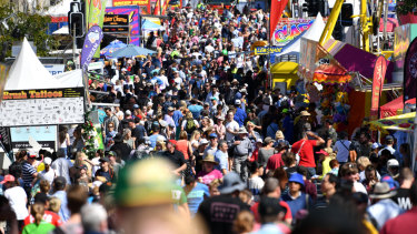 Patrons at the Ekka will enjoy a sunny day without the strong winds that brought chills over the weekend.