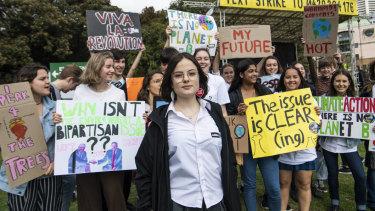 Strike organiser Daisy Jeffrey, 17, spoke to a crowd of more than 80,000.