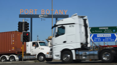 Trucks carried a greater proportion of containers to Port Botany last year than in 2017.