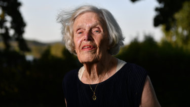 Pioneer statistician Alison Harcourt in Canberra last month for the Australian of the year awards.