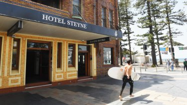 Hotel Steyne is metres from the beach.