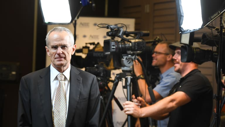 ACCC chairman Rod Sims released the preliminary report on digital platforms in Sydney on Monday.