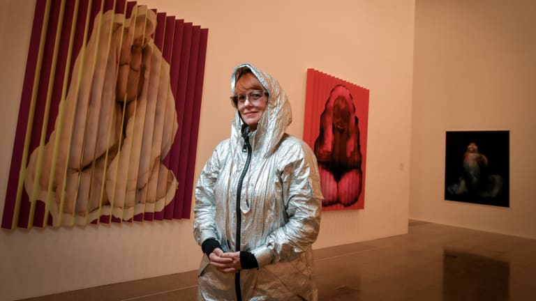 Polly Borland with her latest series, Morph, at NGV Australia.