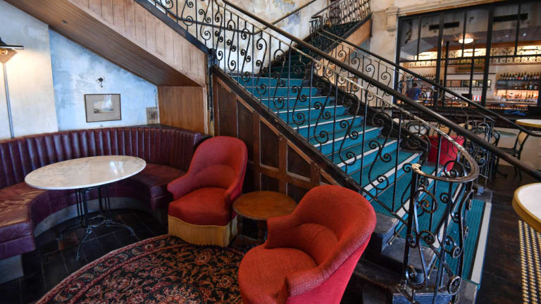The central staircase leads to new territory at the Espy.