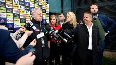 King of the jungle: Panthers supremo Phil Gould speaks to reporters in Penrith on Tuesday.