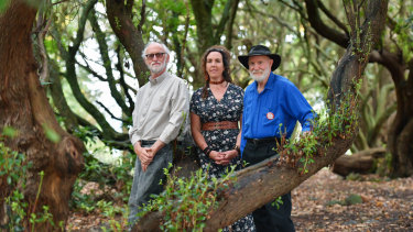 Powered by optimism, curiosity and commitment to the planet - Peter Cock, Chelsea McNab and Bob Rich at Moora Moora.