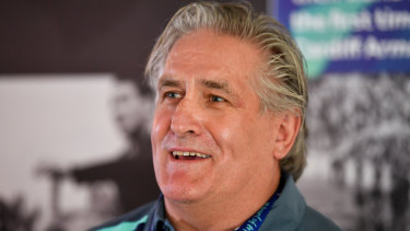 Director of rugby Scott Johnson prefers to stay in the background with the Wallabies.