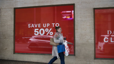 David Jones' profit fell by 50 per cent.