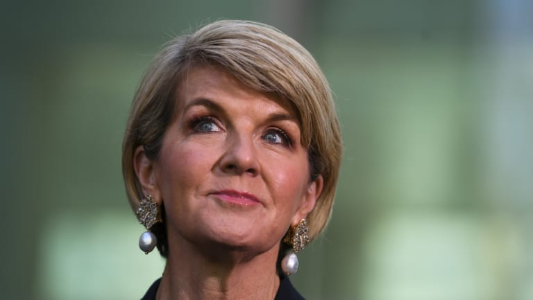 Julie Bishop has spoken out about sexism in politics.