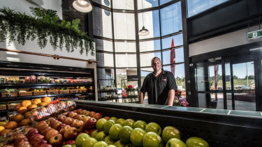 Steve Smith is in charge of the new light-filled supermarket at the Denman Prospect shops.