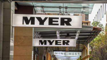 Myer's sales and earnings have been falling in recent years.