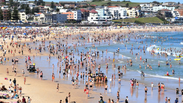 Bondi Beach goers this Christmas.