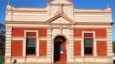 The Shire of Mt Magnet offices reflect the town's long history in WA.