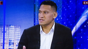 Former Wallaby Israel Folau was interviewed by Alan Jones on Sky News.