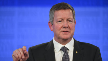 Australian Olympic Committee CEO Matt Carroll addressed the National Press Club in Canberra on Wednesday.