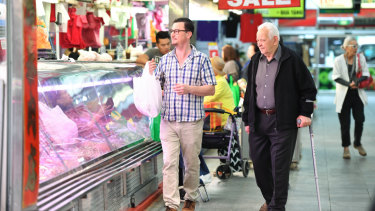 Leicester O'Loughlin buys meat for his restaurant at the market because even though it's more expensive due to the drought, it's cheaper than from most suppliers.