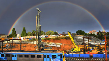 The Metro Tunnel site in South Yarra.