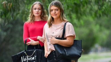 """I was not expecting it to be that awful"": Chloe Bosch (right) and Brittany McIlroy have spoken out about their treatment after working at Victoria's Secret in Chadstone."