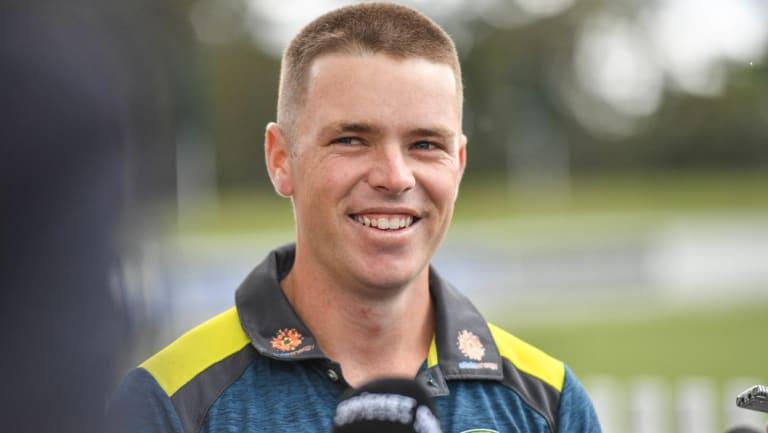 Test debutant Marcus Harris.