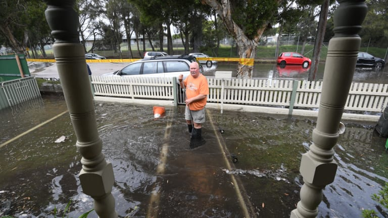 Resident Chris Hanna's property was inundated with water.