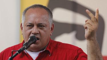 Socialist Party President Diosdado Cabello.