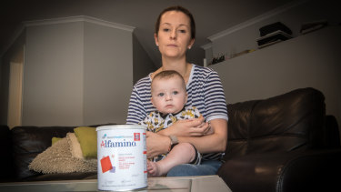 Hannah Goland is fast running out of options to feed her baby boy Archer.