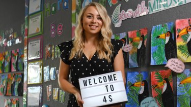 Sarah Lanser, 24, uses Instagram as a resource to share classroom ideas with other teachers.