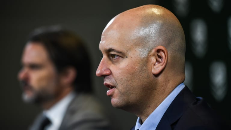 Cracking down: NRL boss Todd Greenberg hands down Manly's penalties in March.