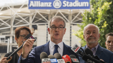 NSW Labor leader Michael Daley has campaigned hard on not overspending on upgrading stadiums.