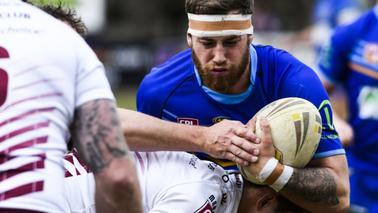 Warrior Bayley Loughhead scored a try in the win over the Kangaroos.