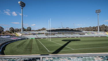 About $1.3 million will be spent on improving Canberra Stadium this year.
